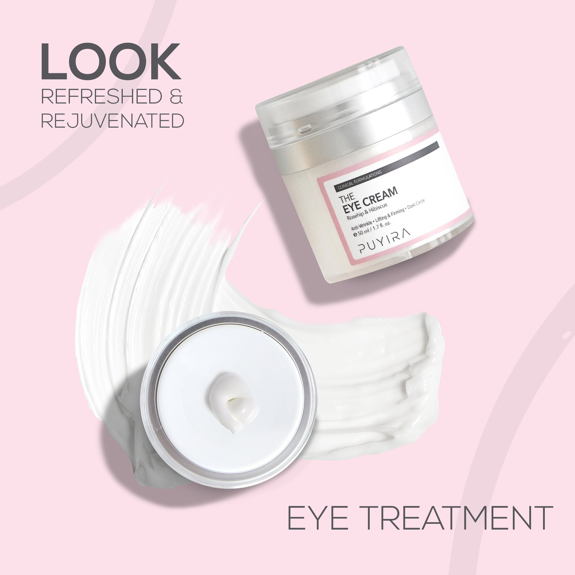 PUYIRA Rosehip Eye Cream Moisturizer , 1.7 fl.oz - Reducing Puffiness and Bags, Erasing Fine Lines and Wrinkles, Brightening Dark Circles by PUYIRA (Image #4)