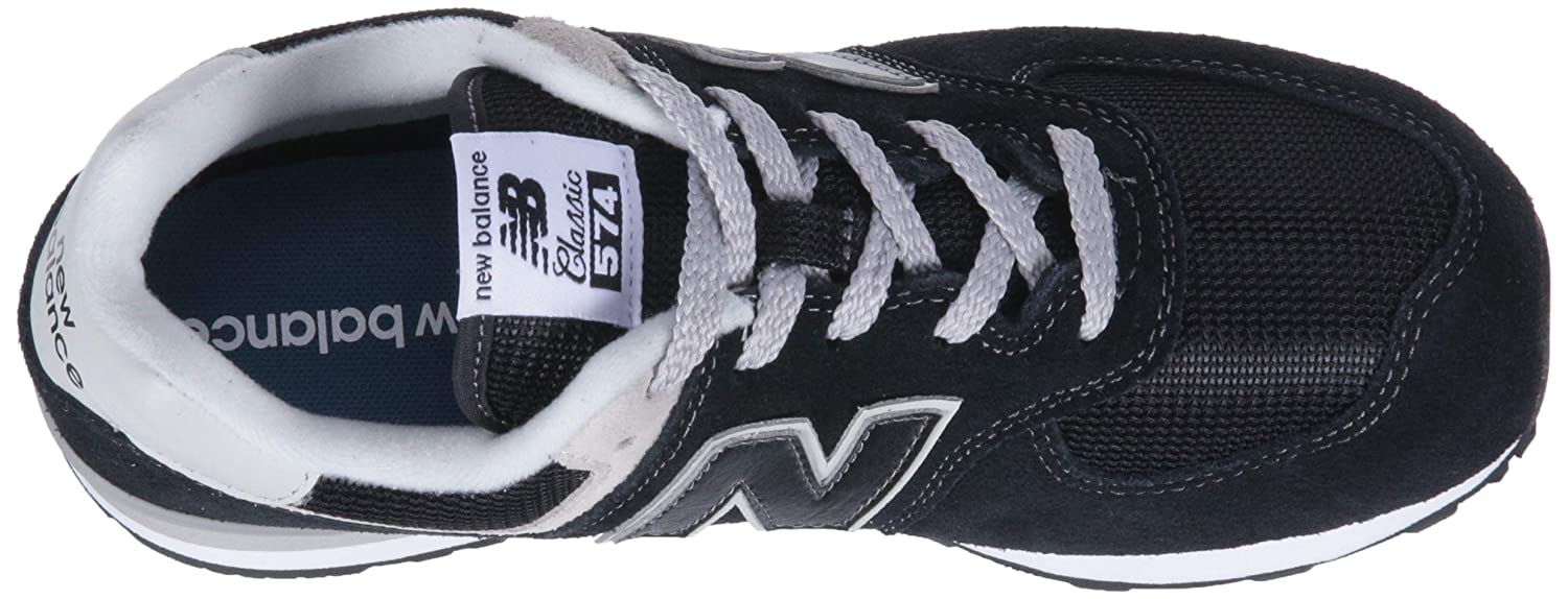 New Balance Unisex-Kinder 574v2 Core Lace Sneaker Schwarz (Black/Grey)