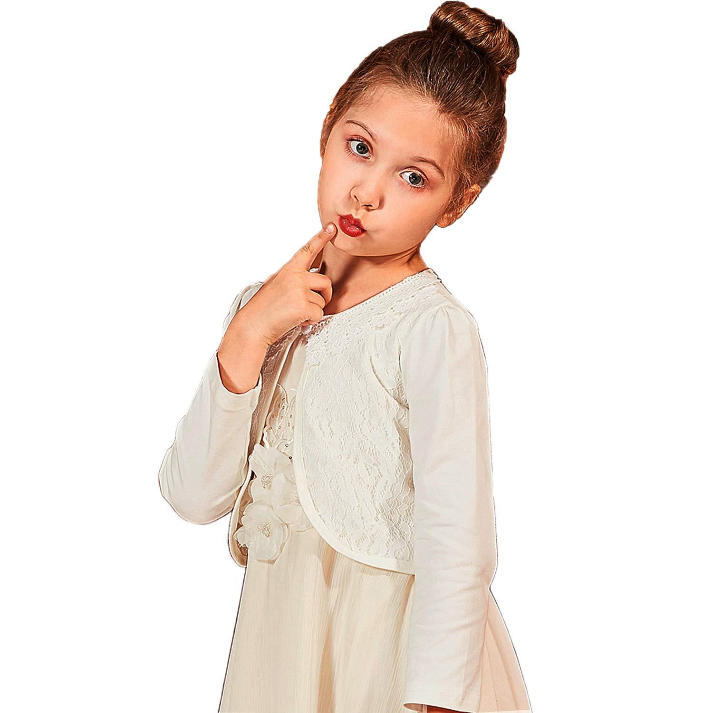Girls Long Sleeve Lace Cardigan Bolero Shrug Toddler Sweater