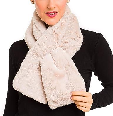 Bufanda De Pelo Para Mujer Bufanda De Piel Sintética Para El Cuello Para Abrigo De Invierno Talla única Clothing