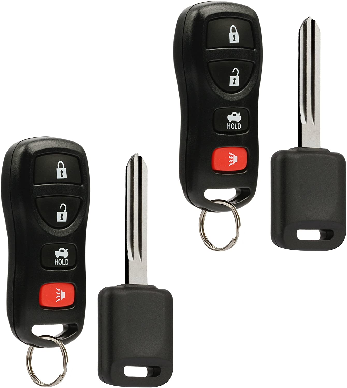 Set of 2 Key Fob fits 2002-2004 Nissan Infiniti Keyless Entry Remote Key KBRASTU15 4D-60