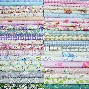 50 piezas de 20 cm x 25 cm parte superior de tela de algodón ...