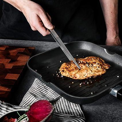 Pinze cucina in acciaio inox 40 cm carta forno per barbecue grill griglia forno