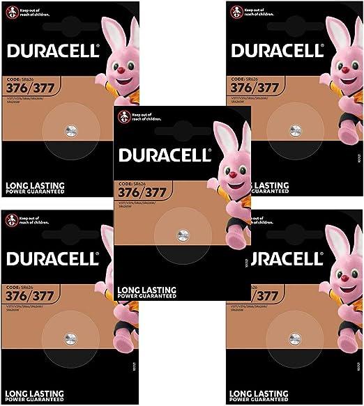 Duracell Knopfzelle Watch 377 Sr66 1 5 V 5 Stück Kamera