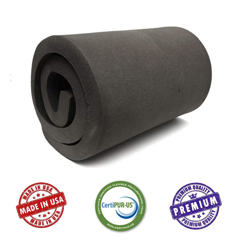 Seat Replacement, Upholstery Sheet, Foam Padding, Acoustic Foam Sheet 1 H X 30 W X 72 L CertiPUR-US Certified Rubber Foam Sheet Cushion AKTRADING CO