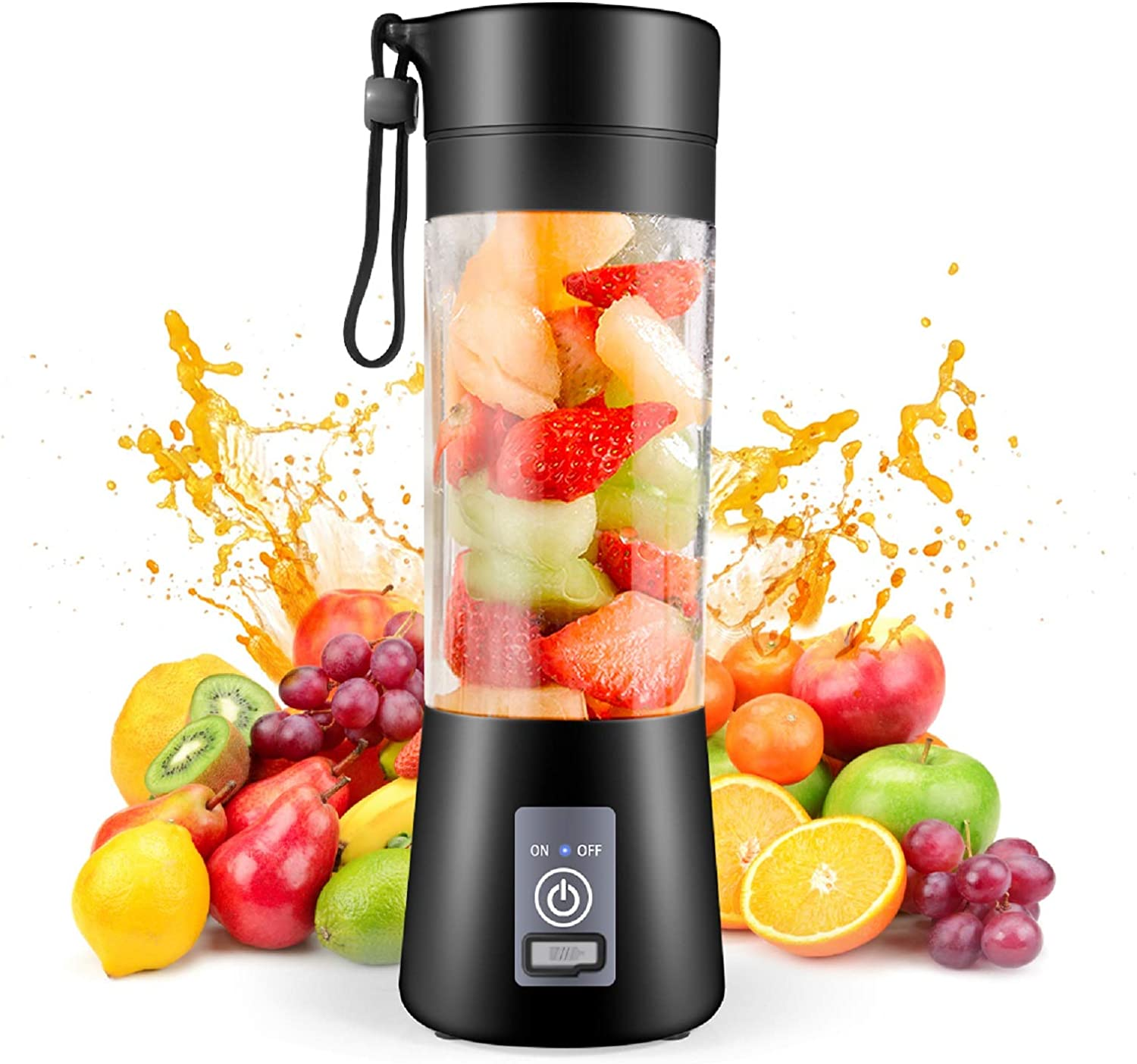 Portable Blender,Personal Blender, Smoothies Mini Jucier Cup USB Rechargeable and Personal Size Blender Shakes,380ml,Fruit Juice,Mixer