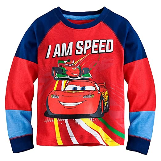 Disney Store Cars Lightning Mcqueen Little Boy Long Sleeve Shirt Size 5 6 69f9bd3f4
