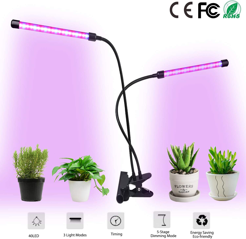 4 Head LED Grow Light UV Growing Lamp Full Spectrum Indoor Plants Hydroponics