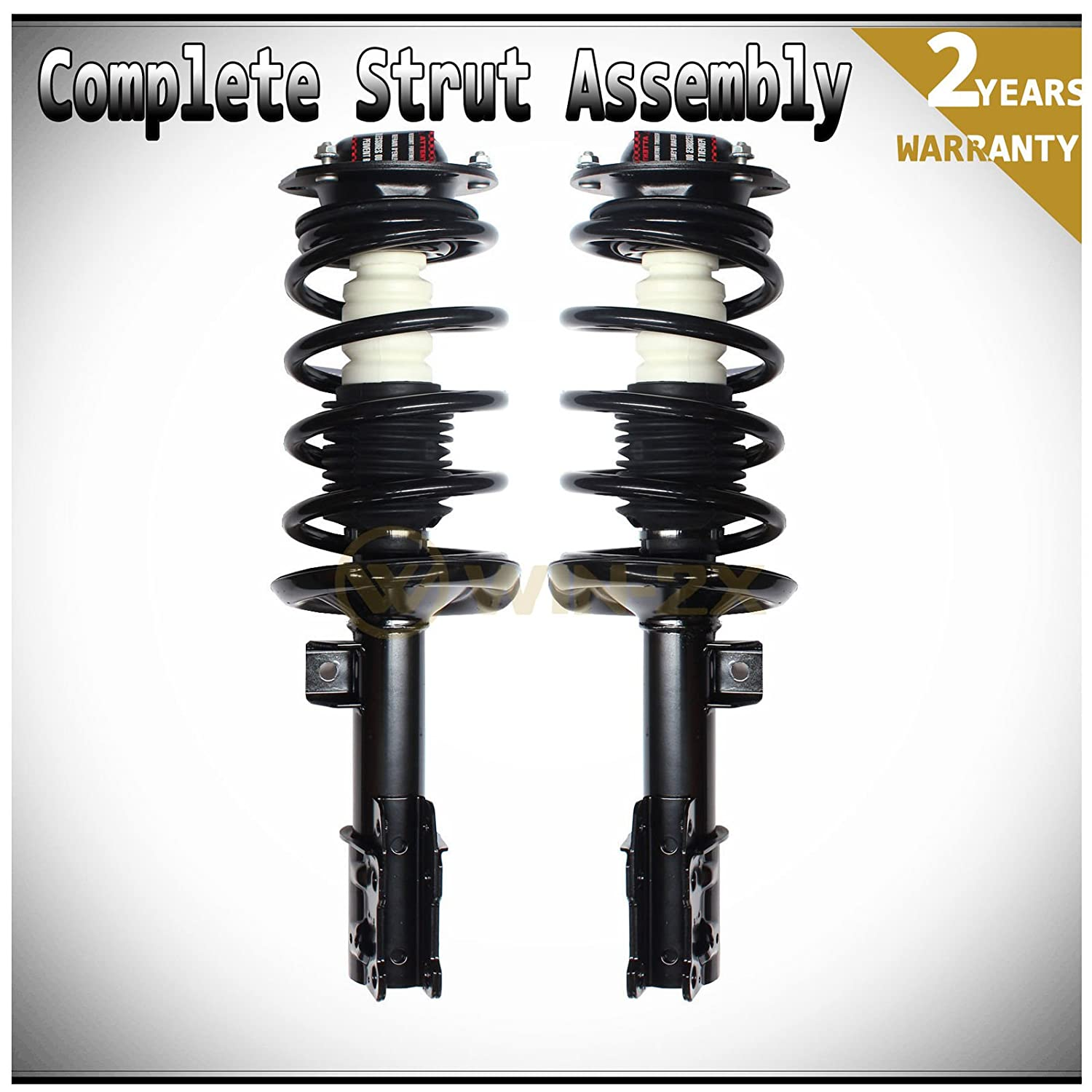 WIN-2X New 1pc Front Left Side Quick Complete Suspension Shock Strut /& Coil Spring Assembly Kit Fit 04-12 Chevy Malibu//Malibu Maxx 05-10 Pontiac G6 07-09 Saturn Aura