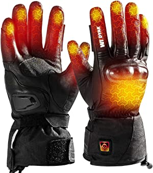 WILDYAK Heated Gloves for Men Women, Electric Heating Gloves for Motorcycle,Ski,Hunting,Snowmobile