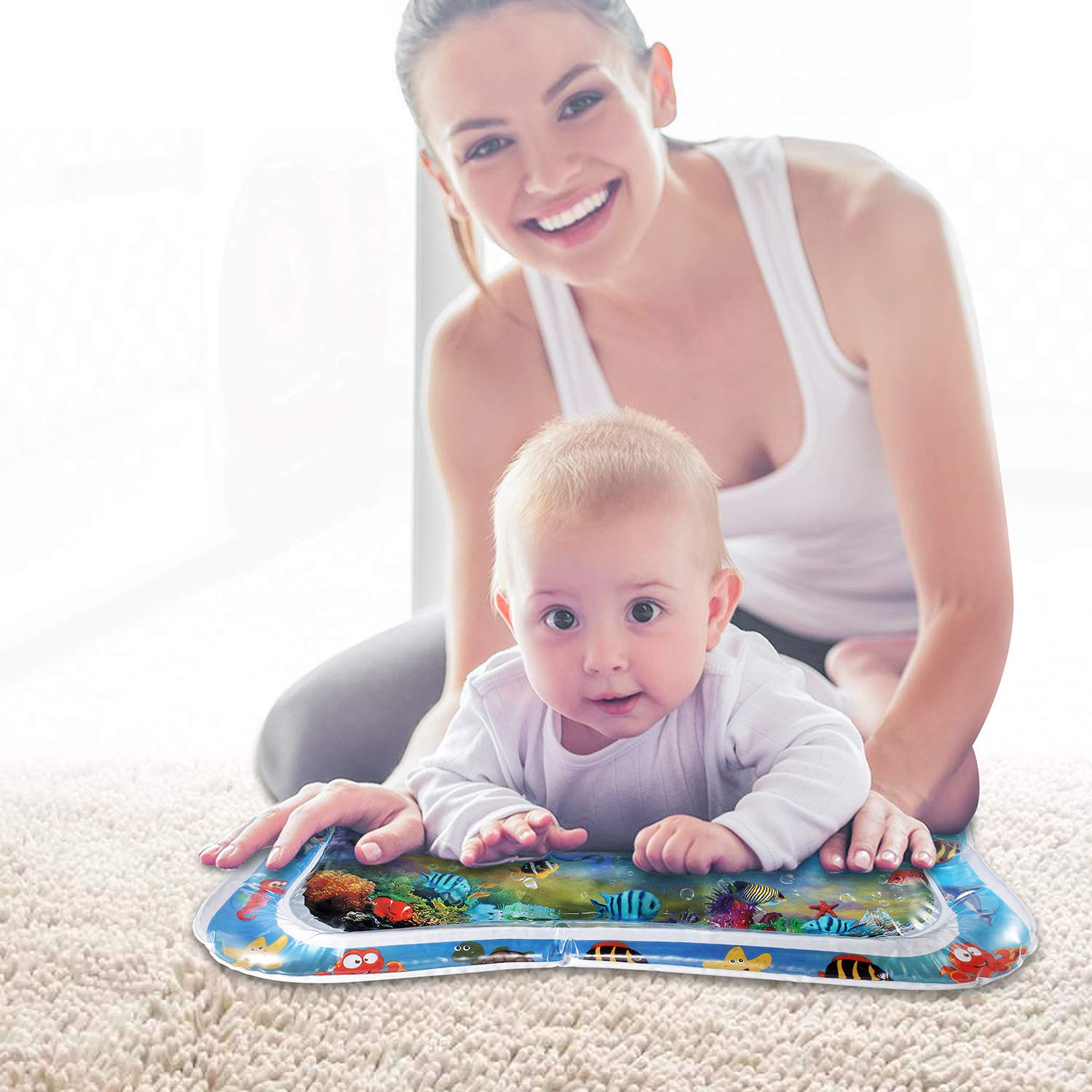 Hidreammy/® Baby Tummy Time Water Mat BPA Free Tummy Time Toys for Infants /& Toddlers