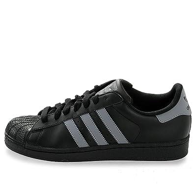 e7f73531697a adidas superstar black grey uk size 7.5 uk  Amazon.co.uk  Shoes   Bags