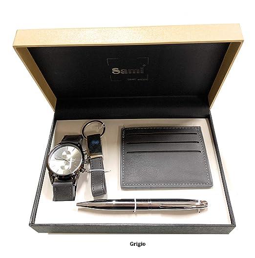 Sami RSM-43742 Time Series - Set de Reloj para Hombre, bolígrafo con Punta