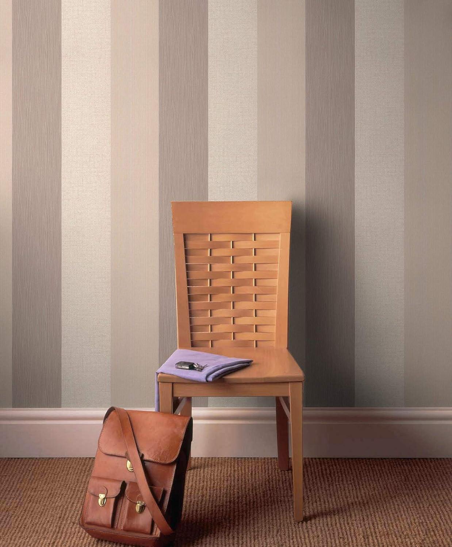 Superfresco Java Stripe Textured Spring Green// Brown Wallpaper