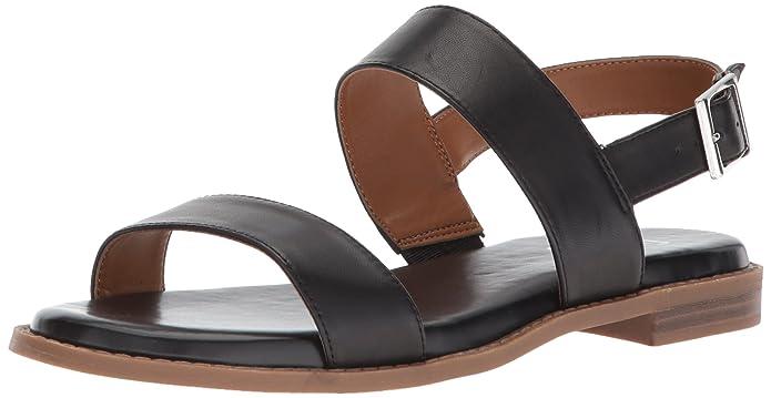 Franco Sarto Women's Velocity Flat Sandal, Black, 8.5 M US