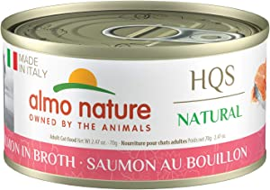 Almo Nature HQS Natural Made in Italy, Grain-Free, Additive Free, Adult Cat Canned Wet Food. Crafted with a taste of Italy in every bite (Pack of 24)