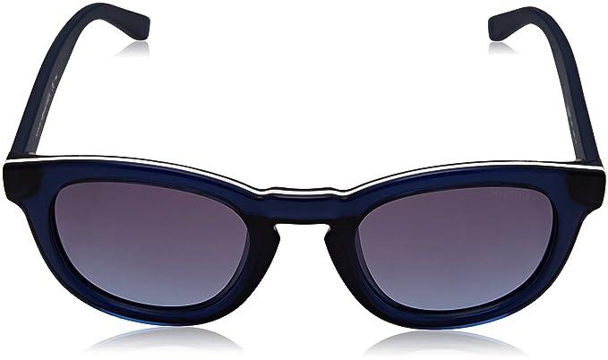 Unisex Adults TH 1287/S LL Sunglasses, Black (Bluee), 48 Tommy Hilfiger
