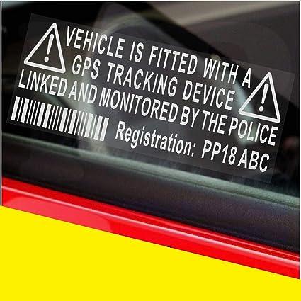 4 x / Fake GPS Rastreador personalizada dispositivo de sistema de alarma de la unidad de Seguridad Maniquí de la ventana de advertencia pegatinas con ...