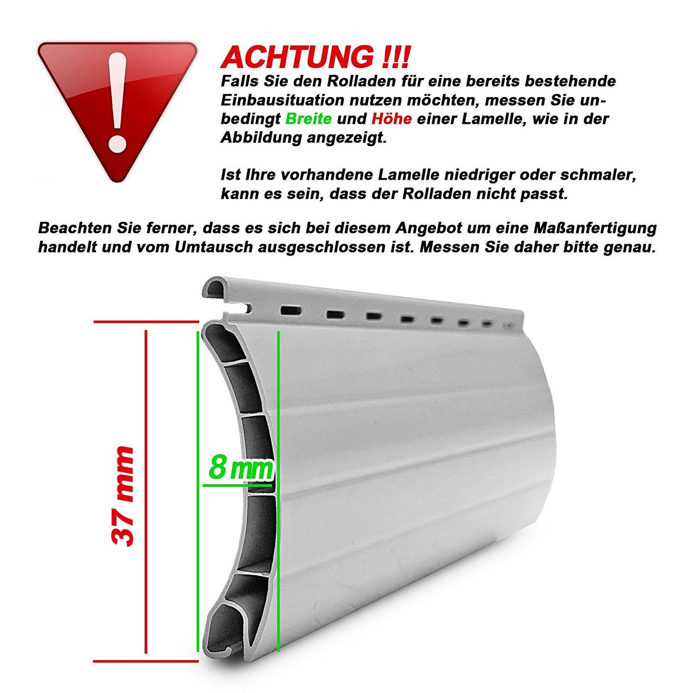 Mini Rolladenpanzer PVC Maßanfertigung Wunschmaß 75cm-160cm Breite x x x 230cm Höhe B07BFTX6QL Fensterlden e232c0