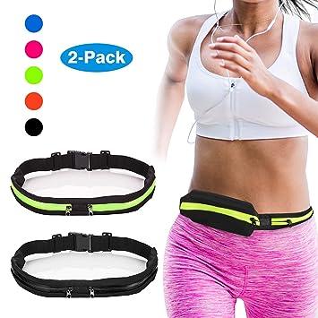 dd956f94dfd6 Amazon.com : Vetoo Running Belt Waist Pack Fanny Pack with 2 ...