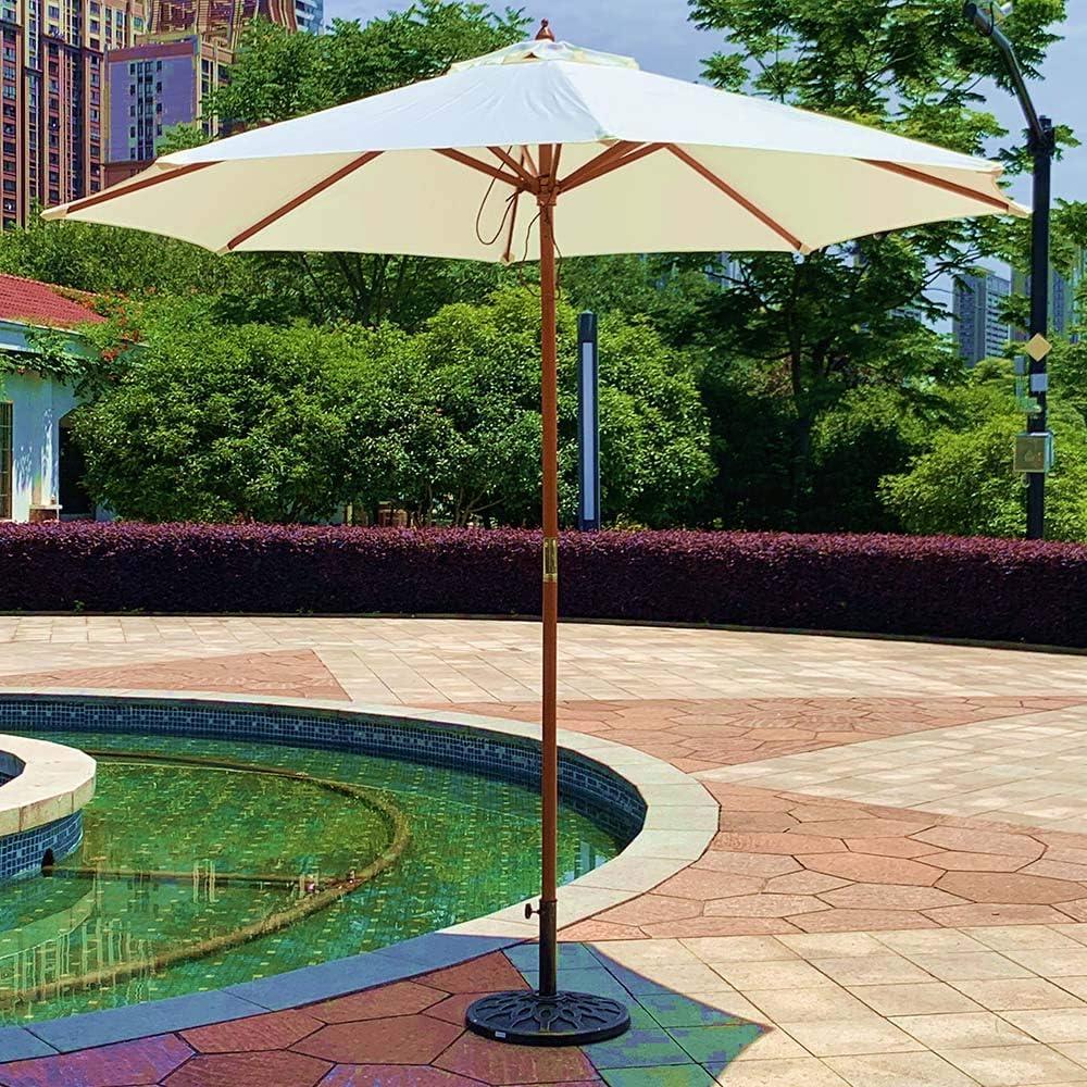 patio umbrella Wooden Garden Parasol Umbrella 7.7m Beach Parasol