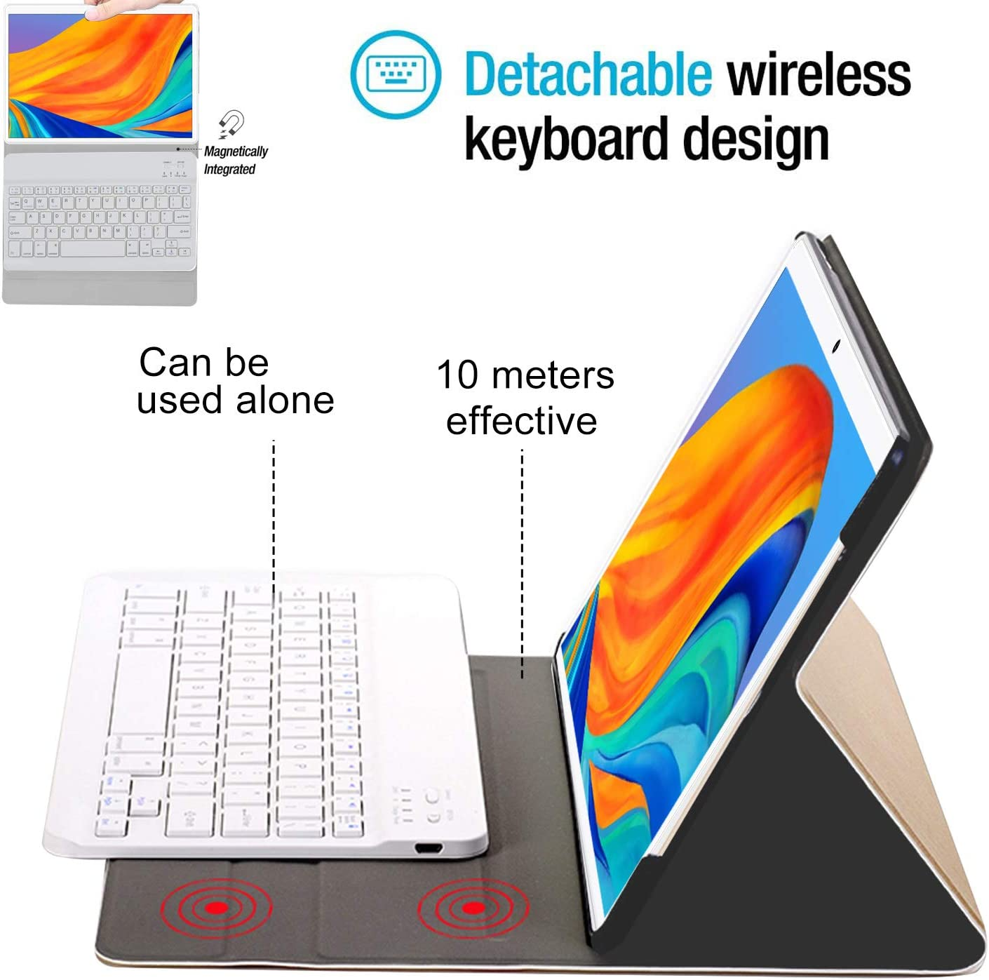 Tablet 10.1 Inch,Android 9.0 Quad-Coree Tablet+Keyboard with 4+ ...