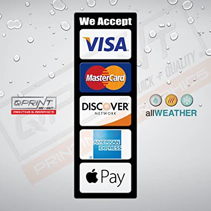 allweather credit card logo decal vinyl sticker visa mastercard discover ae apple pay - Visa Payroll Card