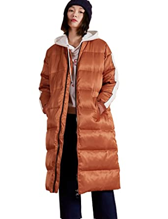 045d05be172 Amazon.com  Women Hoodie Thickened Long Down Jacket Insulated Winter ...