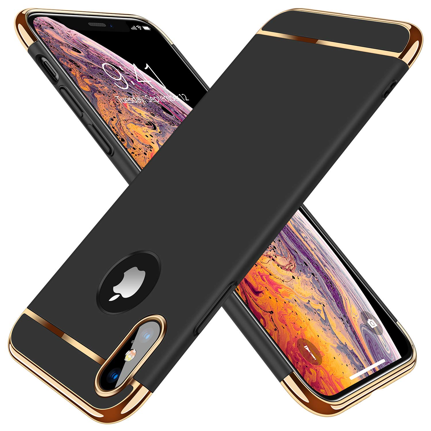 quality design 97f59 9b71d TORRAS [Lock Series iPhone X Case/iPhone Xs Case, Ultra Thin 3 in 1 Hybrid  Hard Plastic Case Anti-Scratch Matte Finish Slim Cover Case Compatible with  ...