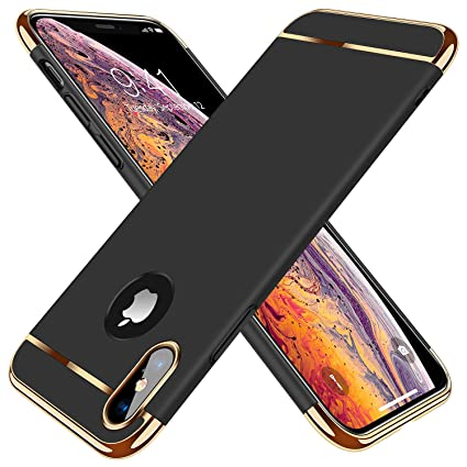 quality design 35faf d49f0 TORRAS [Lock Series iPhone X Case/iPhone Xs Case, Ultra Thin 3 in 1 Hybrid  Hard Plastic Case Anti-Scratch Matte Finish Slim Cover Case Compatible with  ...