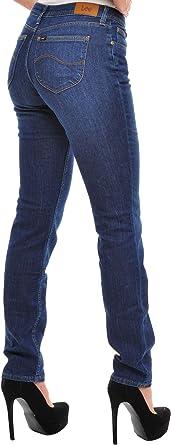 Lee dżinsy damskie Emlyn Straight Regular niebieskie 26/33: Odzież