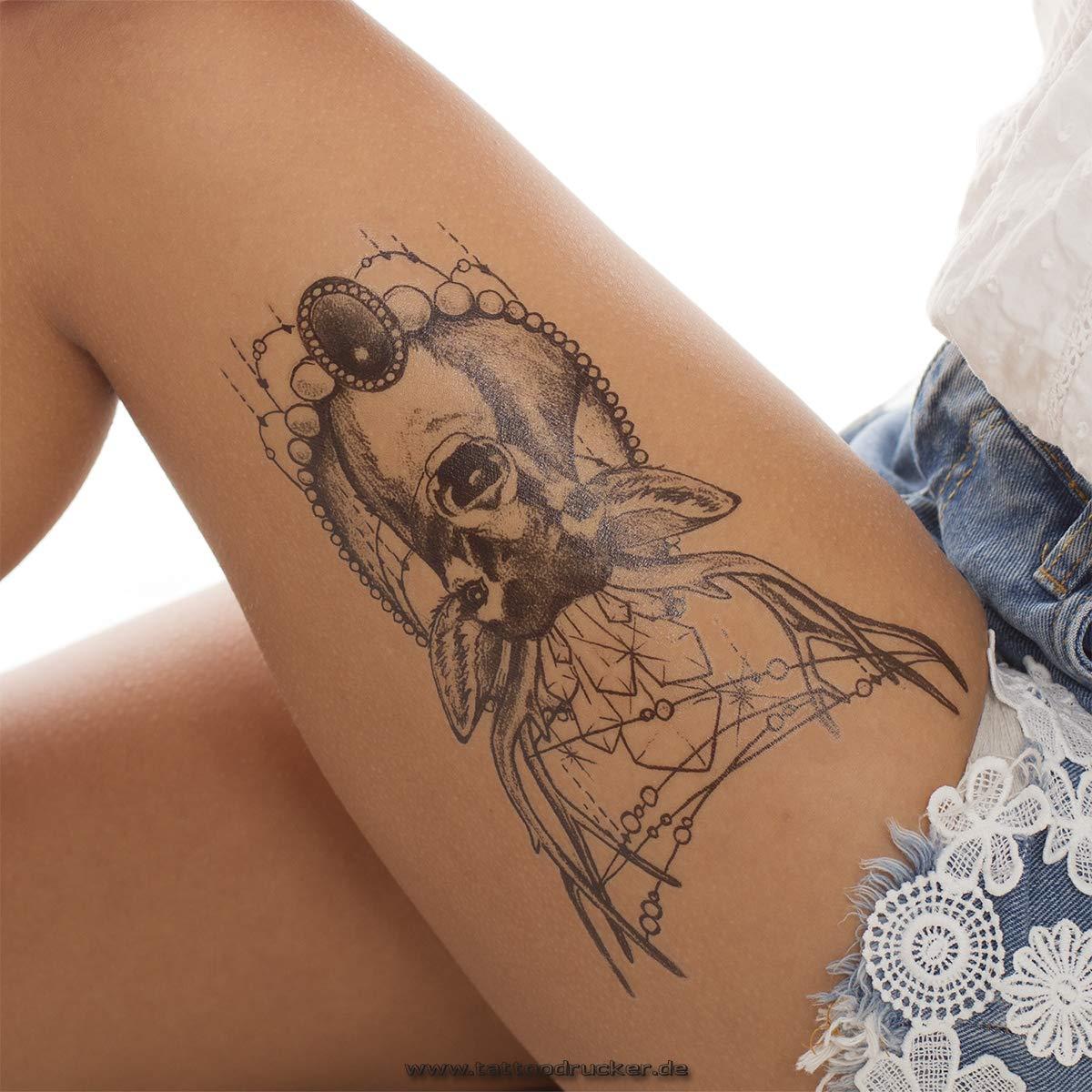 Hirsch Geometrics KM048 - Tatuaje Temporal, Color Negro, Negro, 2 ...
