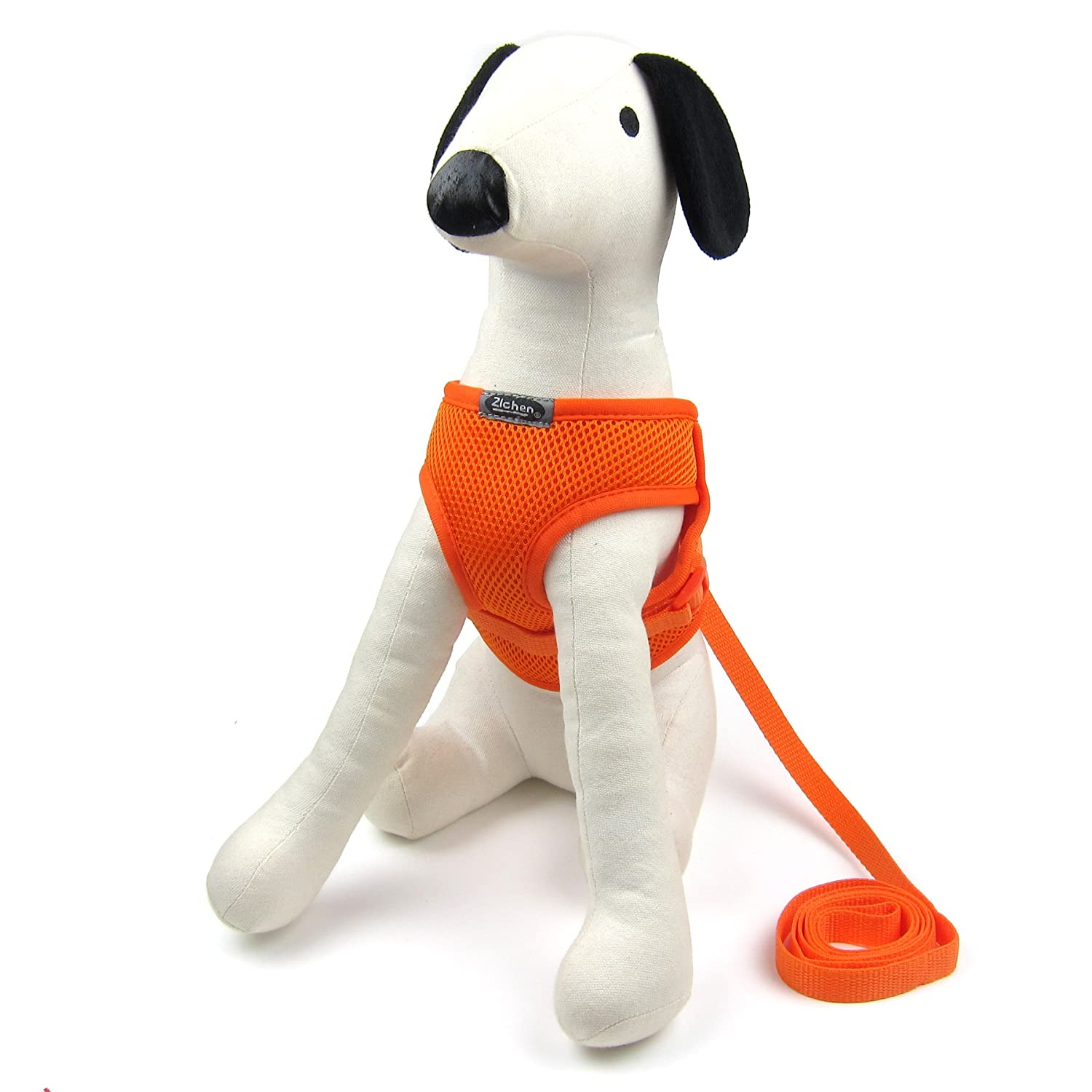 orange Medium orange Medium Alfie Pet Joyce Step-in Harness and Leash Set color  orange, Size  Medium