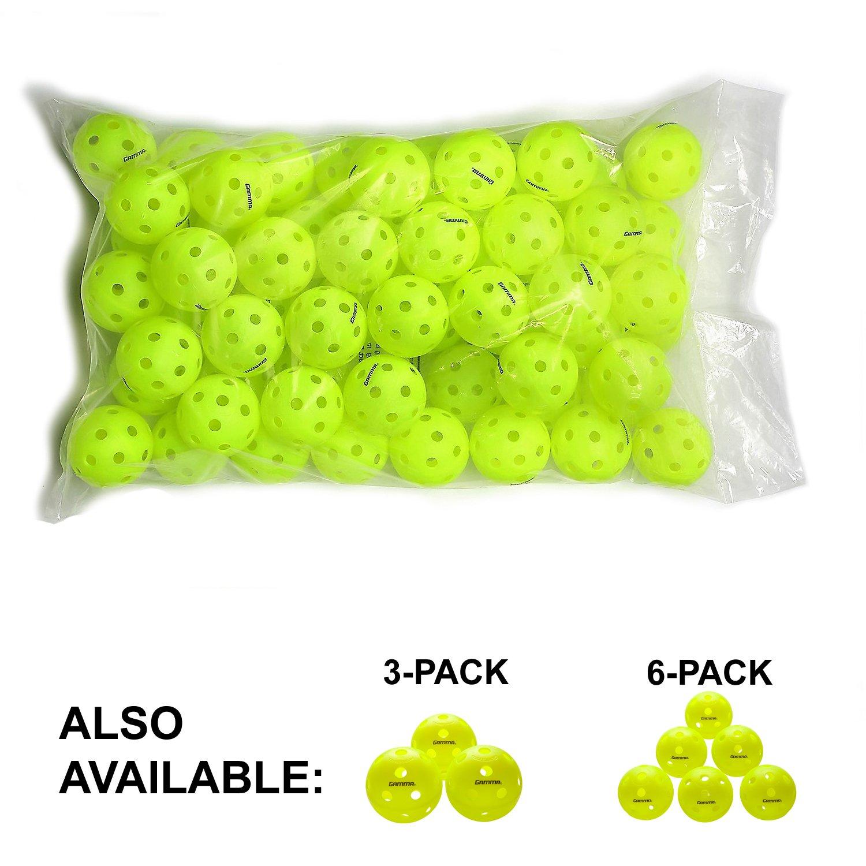 Gamma Sports Photon Indoor Pickleballs, High-Vis Optic Green USAPA Approved Pickleball Balls (60 Pack) by Gamma