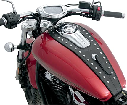 Mustang Motorcycle Seats Studded Tank Bib with Pouch