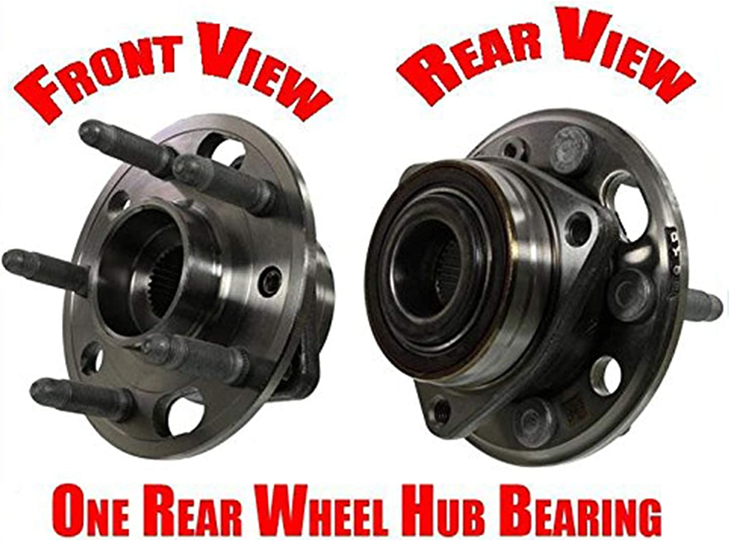 Front 100/% New Wheel Bearing and Hub Assembly Rear Lacrosse Regal XTS