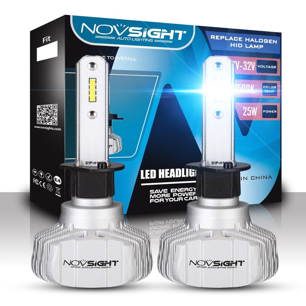 2018 novsight bombilla LED coche una par 50 W 10000 lumen H1 H4 H7 enchufes Fit para cami/ón IP68 herm/ética garant/ía 2 a/ños