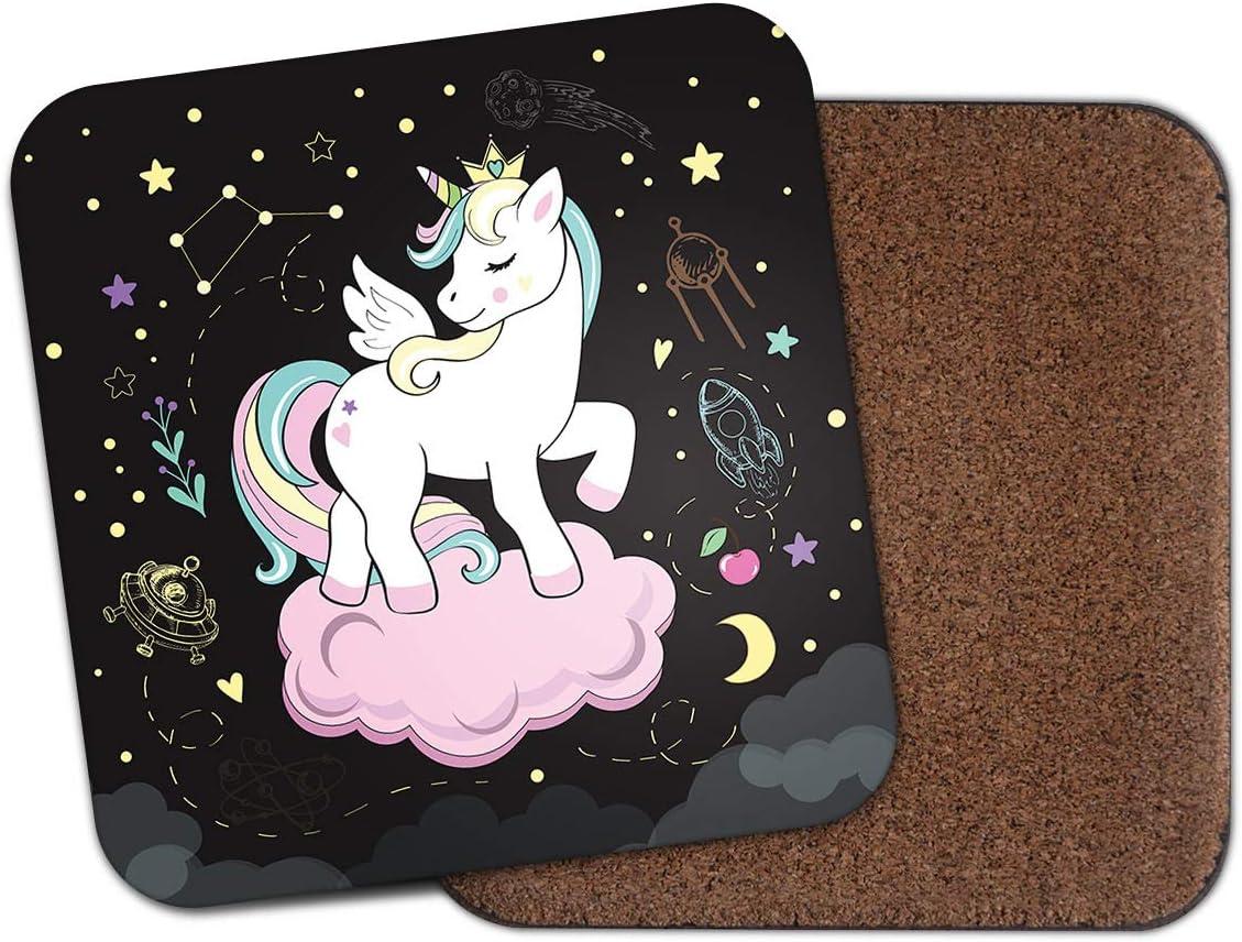 /Cloud Univers /étoiles Filles Teen Fille Cadeau Fun # 14738 LEspace Licorne Dessous de Verre/
