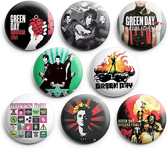 GREEN DAY COLLECT ALL 6 NEW PINS Pinbacks Buttons SV***