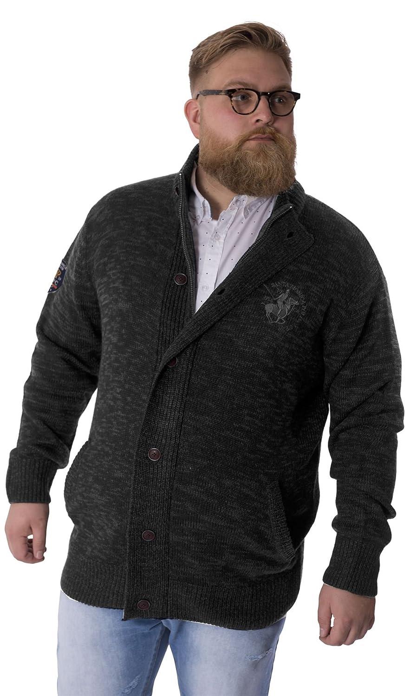 Mens Plus Size Knitwear Cardigan Zip Through Jumper By Santa Monica 2XL - 5XL