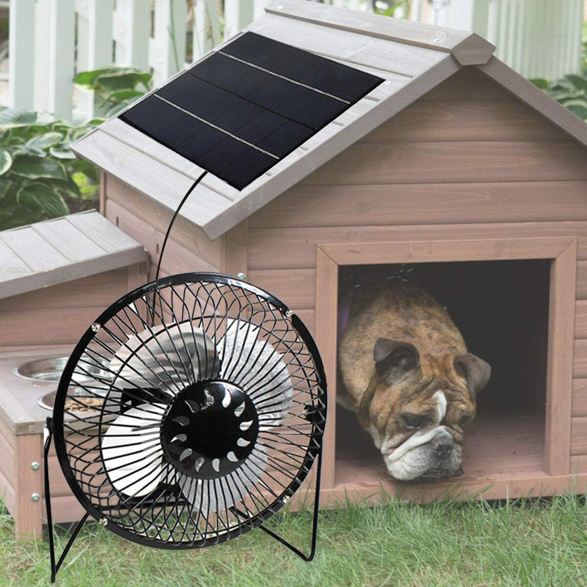 Solar Powered Fan 10W 4 inch Free Energy Green Energy Power Ventilator for Greenhouse Motorhome House Chicken House Outdoor Home Cooling by ShareTime (10W-USB)