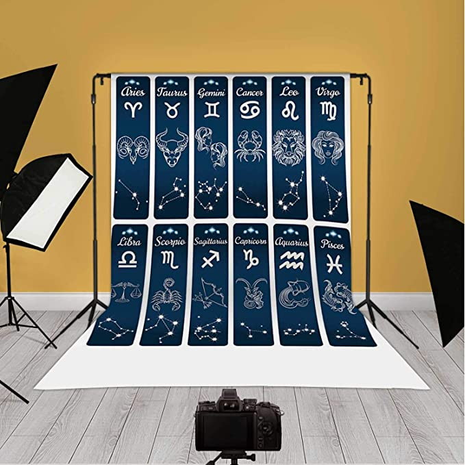 Amazon Com Vertical Zodiac Signs Banners Illustration Astrology Sign Backdrop Astrology For Photo Video Background 10ft X 20ft Camera Photo