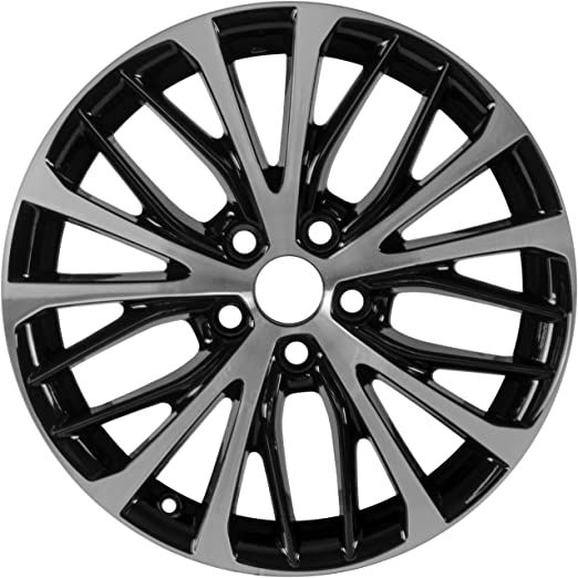 17 x 7. inches //5 x 100 mm, 39 mm Offset Multiple Manufactures ALY75208U45N Black Wheel with Machined and Meets All Federal Motor Safety Standards