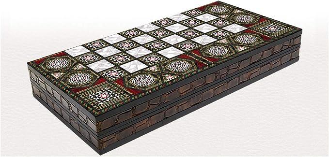 Backgammon Tavla Marmor Design XXL