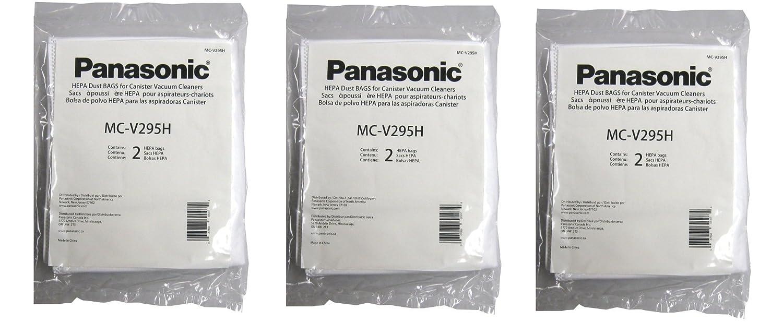 Panasonic MC-V295H Type C-19 Canister HEPA Vacuum Bag, Pack of 6