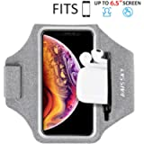 Running Armband with Airpods Bag Cell Phone Armband for iPhone 12/12 Pro11/11 Pro/XR/XS/8/7, Water Resistant Sports…