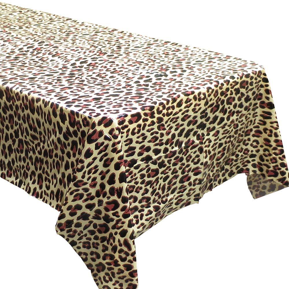 Blue Orchards Leopard Print Tablecovers (2), Safari Birthdays, Leopard Party Supplies, Animal-Themed Decorations