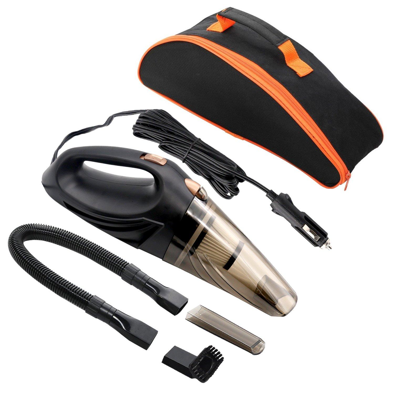 MKQPOWER KFZ Staubsauger DC12 V 106 W 3 in 1 Handheld Nass/Trocken Auto Staubsauger Staub Buster mit HEPA-Filter, 14,7 FT Netzkabel und Tragetasche