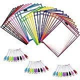 Amazon.com : C-Line Reusable Dry Erase Pockets, 9 x 12