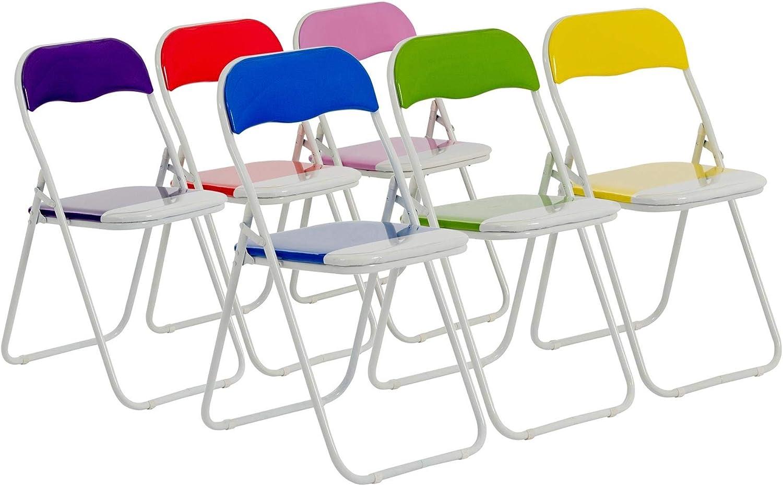 Chaises pliantes rembourrées pour le bureau bleu, vert